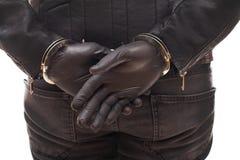 Dangerous burglar in black Stock Image