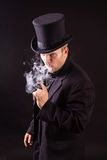 Dangerous Business Man Holding Gun Royalty Free Stock Image