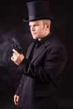 Dangerous Business Man Holding Gun Royalty Free Stock Image