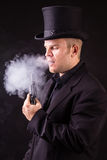 Dangerous Business Man Holding Gun Stock Photography