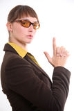 Dangerous business woman Stock Photography