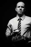 Dangerous businessman Royalty Free Stock Photo