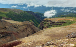 Dangerous Canyon near Mutnovsky volcano in Kamchatka. Stock Photos