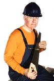 Dangerous carpenter Royalty Free Stock Images