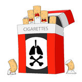 Dangerous cigarettes Stock Images