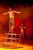 Dangerous circus representation Royalty Free Stock Photo