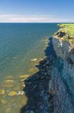 Dangerous cliff of Baltic sea Stock Images