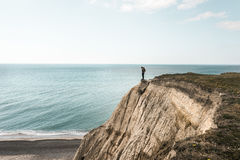 Dangerous cliff Bovbjerg in northern Jutland royalty free stock photos