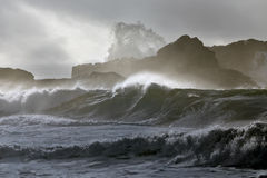 Dangerous cliff in a stormy day Royalty Free Stock Photo