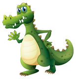 A dangerous crocodile. Illustration of a dangerous crocodile on a white background stock illustration