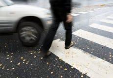 Dangerous crossing Royalty Free Stock Image