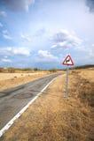 Dangerous curve Stock Image