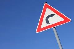 Dangerous curve Stock Images