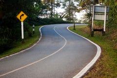 Free Dangerous Curve Sign Stock Photo - 35574870