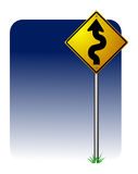 Dangerous Curves. Vector illustration of a curves ahead road sign vector illustration