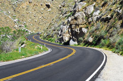 Dangerous Curves. Mountain road with dangerous curves Royalty Free Stock Photography