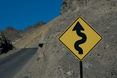 Dangerous Curves Ahead royalty free stock image