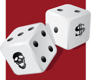 Dangerous dice Stock Photos