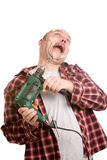 Dangerous drill machine royalty free stock image
