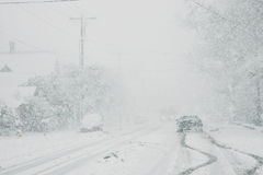 Dangerous driving conditions Stock Photography
