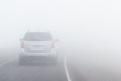 Dangerous driving conditions Royalty Free Stock Photo