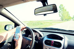 Dangerous driving Stock Image