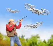 Free Dangerous Drone. Stock Image - 56995921