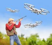 Dangerous drone. Stock Image