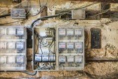 Dangerous electrical wiring Havana Royalty Free Stock Photo