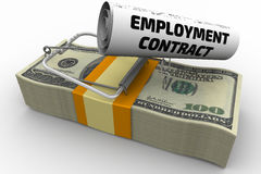 Dangerous employment contract Royalty Free Stock Photo
