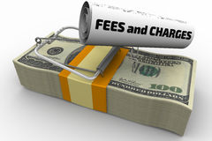 Dangerous fees and charges Stock Image