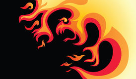 Dangerous fire Stock Images