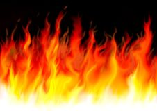 Dangerous Flames Stock Photo