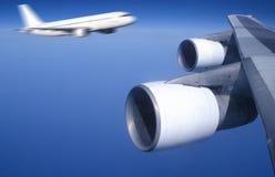 Dangerous flight Stock Images