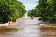 Dangerous flooding after midwestern storms stock images