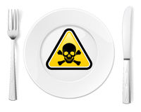 Dangerous food Royalty Free Stock Photography