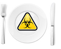 Dangerous food Royalty Free Stock Photos
