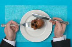 Dangerous food. On a background Royalty Free Stock Image
