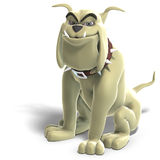 Dangerous and funny toon dog Stock Photo