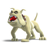 Dangerous and funny toon dog Royalty Free Stock Image