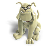 Dangerous and funny toon dog Royalty Free Stock Photo
