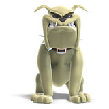 Dangerous and funny toon dog Stock Photography