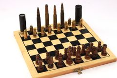 Dangerous game, chess game Stock Image