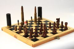 Dangerous game, chess game Stock Photography