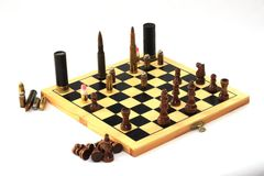Dangerous game, chess game Royalty Free Stock Photo