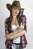 Dangerous girl Stock Image
