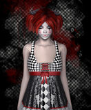 Dangerous girl. Beautiful young girl with dangerous look royalty free illustration
