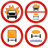 Dangerous Goods Prohibition Signs In Poland Royalty Free Stock Photos
