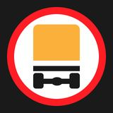 Dangerous Goods Transport prohibition sign icon Royalty Free Stock Photography