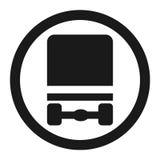 Dangerous Goods Transport prohibition sign icon Stock Photos